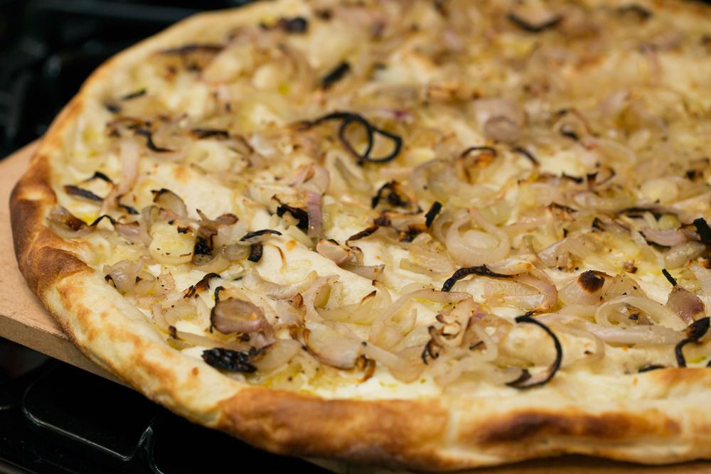 Price Latimer Agah's Salad Pizza
