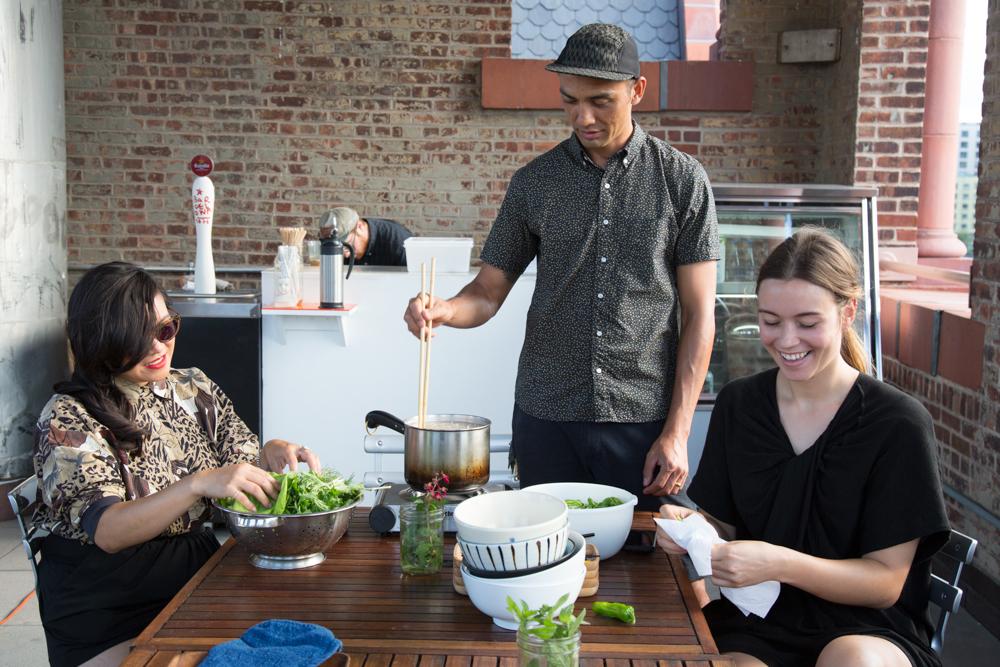 Hisham Bharoocha's Udon Noodle Salad with Tuna and Shishito Peppers