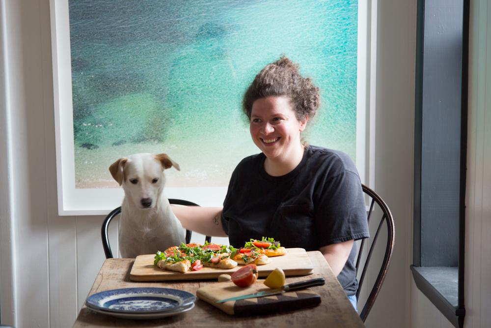 Julia Turshen's Hot Bread Pizza Salad