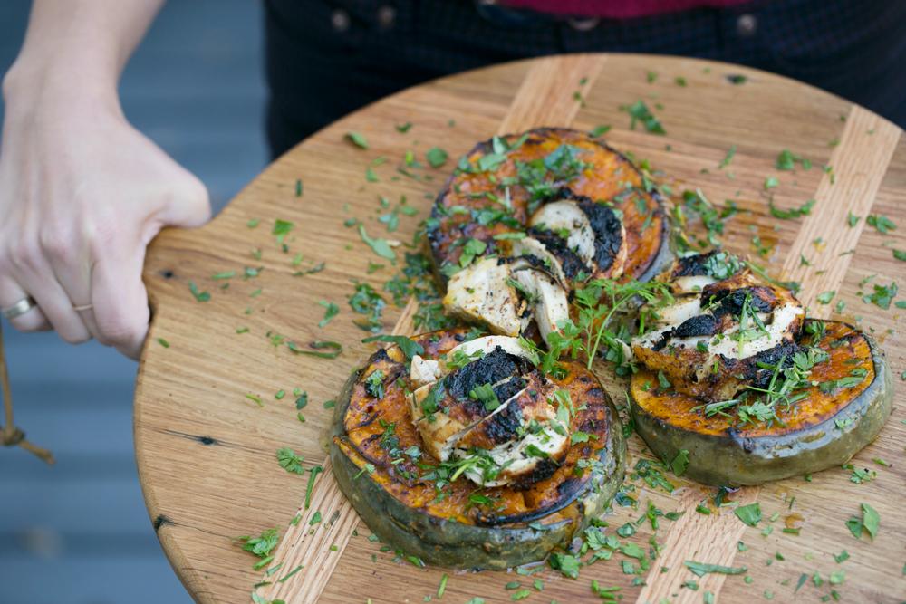 Pumpkin Salad with Roast Chicken and Fines Hèrbes