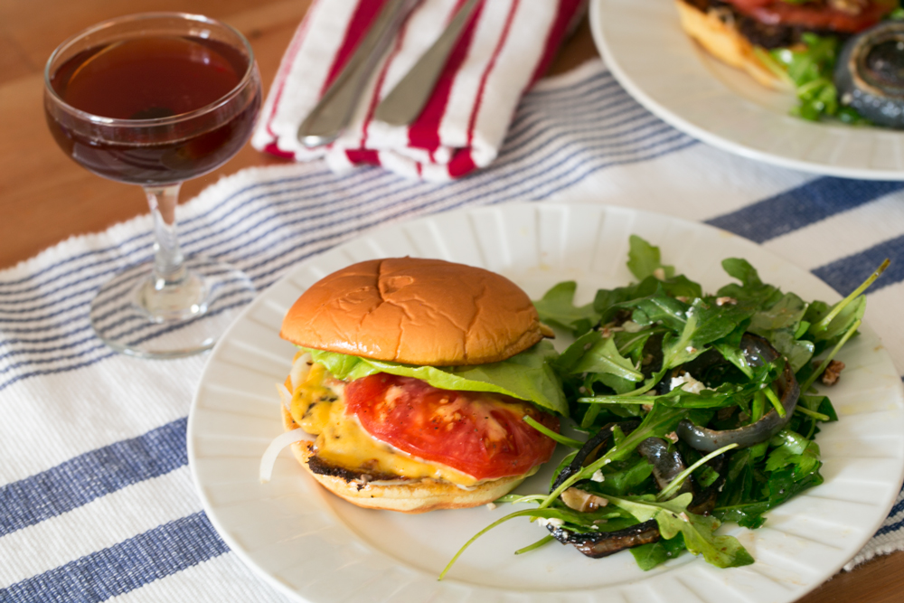 Max Silvestri's Cheeseburger (And Arugula Salad)