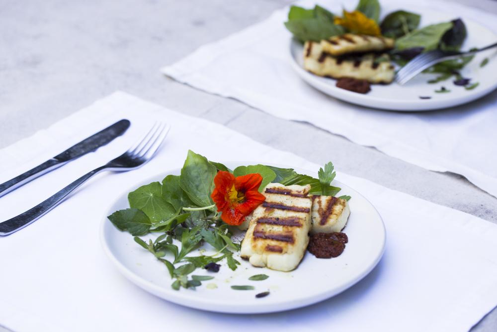 Adam Fuss' Grilled Paneer Salad