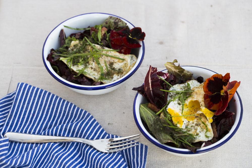 Julian Hoeber's Pancetta and Bitter Greens Salad