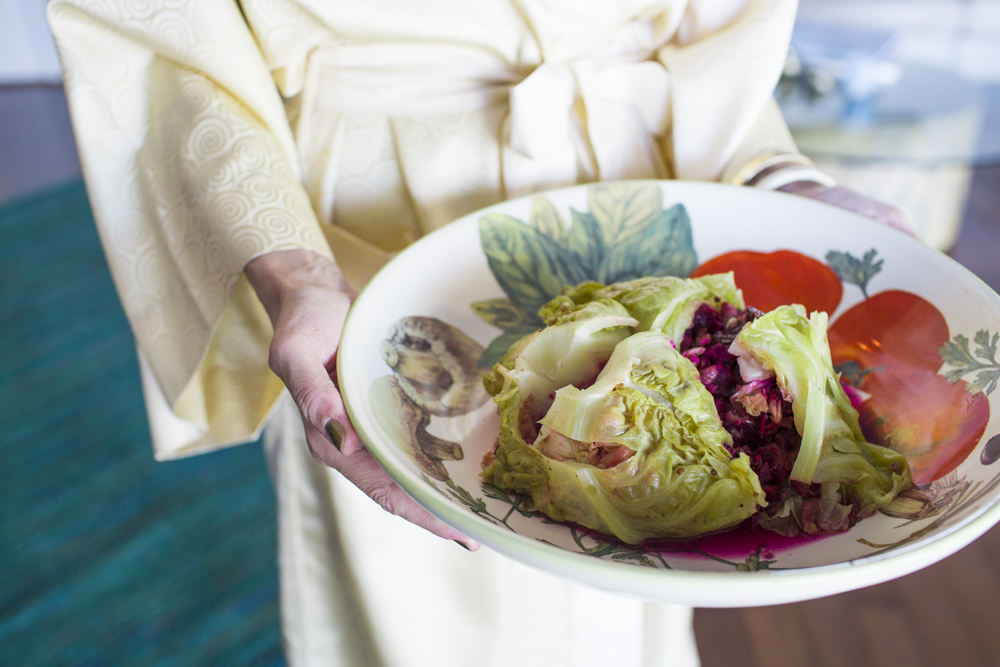 Faux Riche's Flaming Cabbage Salad