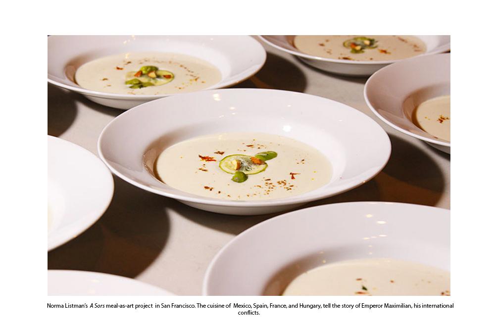 Norma Listman's Sopa de Frijol con Chochoyotes y Ensalada de Chicorias
