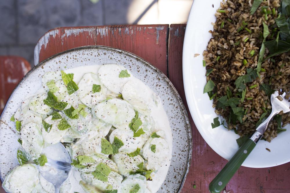 Storm Tharp's Spiced Carrots + Creamy Cucumber Salad