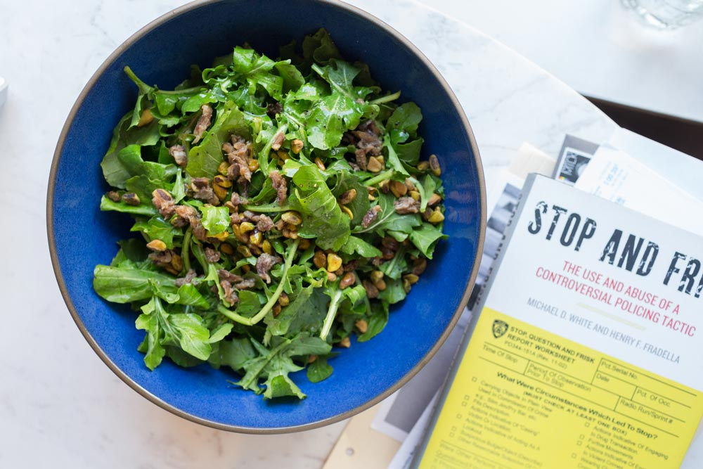 Alice Gregory's Arugula, Pistachio and Anchovy Salad