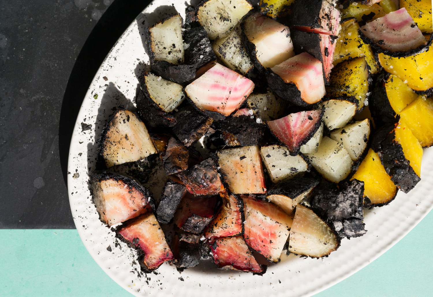 Coal-Charred Beets with Olive Oil and Salt