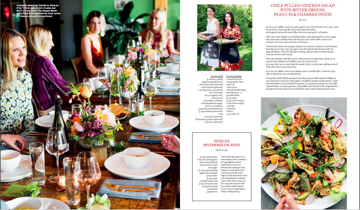 Chilled corn Soup: Julia Sullivan + SFP in Domino Magazine