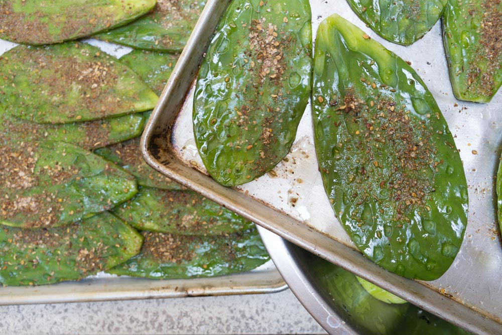 Norma and Saqib's Grilled Sichuan Nopales