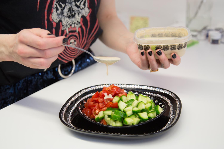 Kerin Rose Gold's Glittery Israeli Salad